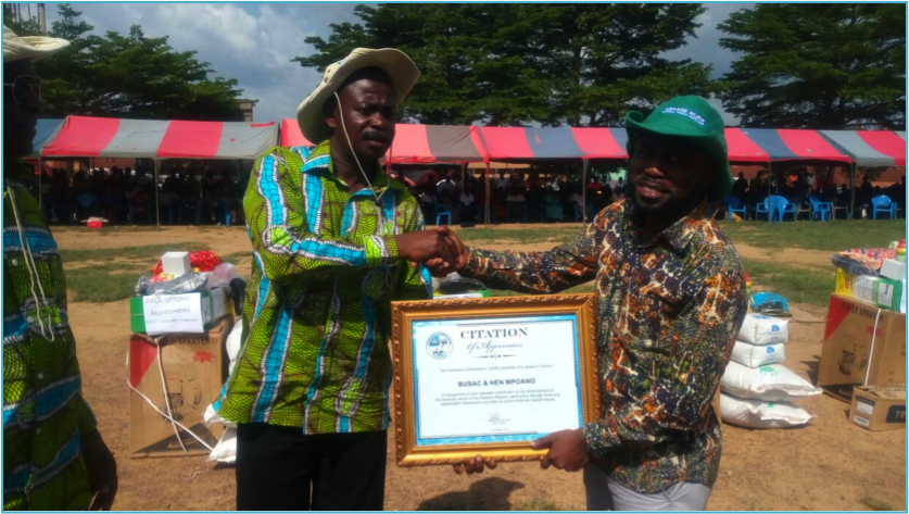 Fisheries Commission Ghana Recognizes Contribution of Hen Mpoano and BUSAC